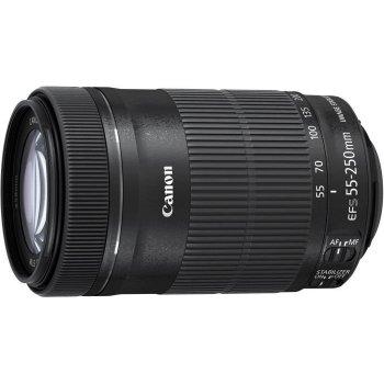 Canon EF-S 55-250mm f 4-5.6 IS STM SLR Teleobjetivo Negro