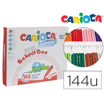 Rotulador carioca jumbo school pack de 144 unidades colores surtidos