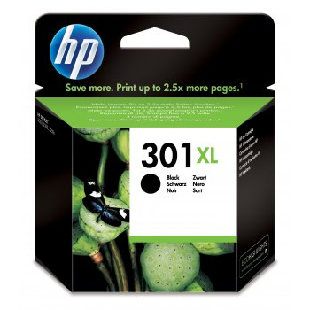 Cartucho de Tinta CH563EE | HP 301 Original Negro XL