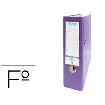 Archivador de palanca elba carton forrado pvc con rado top folio lomo 80 mm violeta
