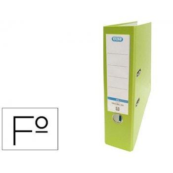 Archivador de palanca elba carton forrado pvc con rado top folio lomo 80 mm verde lima
