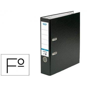 Archivador de palanca elba carton forrado pvc con rado top folio lomo 80 mm negro