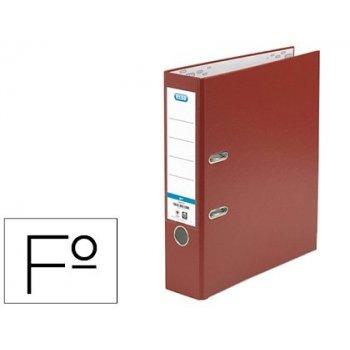 Archivador de palanca elba carton forrado pvc con rado top folio lomo 80 mm rojo
