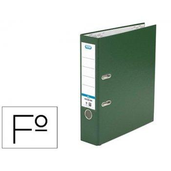Archivador de palanca elba carton forrado pvc con rado top folio lomo 80 mm verde