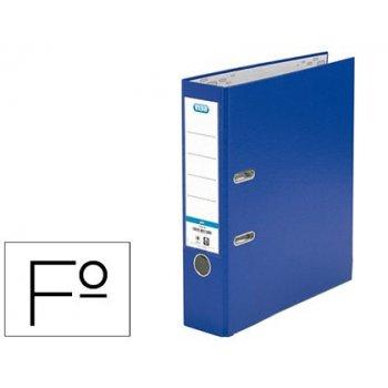 Archivador de palanca elba carton forrado pvc con rado top folio lomo 80 mm azul