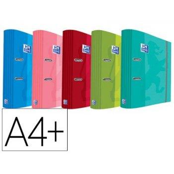 Archivador de palanca oxford school din a4+ con rado cierre gomilla elastica lomo 70 mm colores tendencias