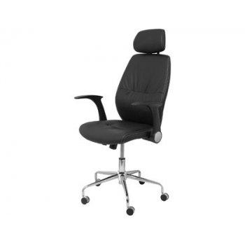 Silla pyc huelves de oficina estructura metalica con brazos retractiles y asiento regulable altura con cabecero