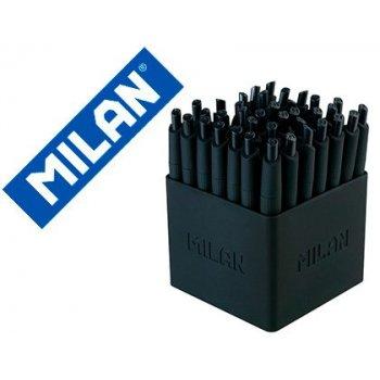 Boligrafo milan p1 retractil 1 mm touch negro expositor de 40 unidades