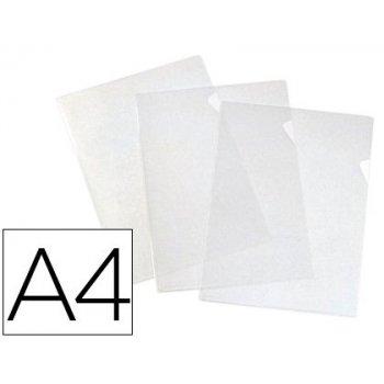 Carpeta dossier uñero elba standard folio plastico 140 mc cristal caja de 100 unidades
