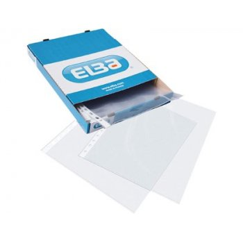 Funda multitaladro elba standard din a4 70 micras cristal caja de 100 unidades