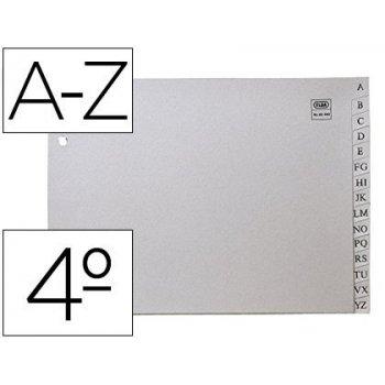 Separador alfabetico elba plastico 120 mc cuarto 2 taladros a-z gris