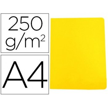 Subcarpeta cartulina gio simple intenso din a4 amarillo 250g m2