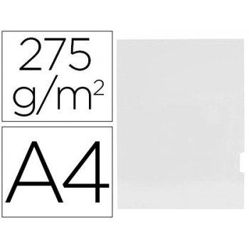 Subcarpeta cartulina gio plastificada presentacion 2 solapas din a4 blanco 275g m2