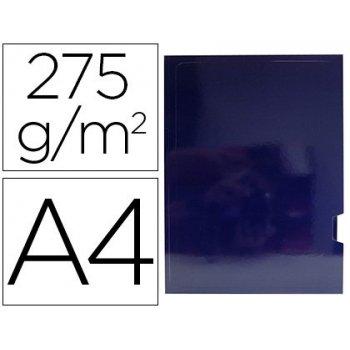 Subcarpeta cartulina gio plastificada presentacion 2 solapas din a4 azul 275g m2