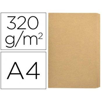 Subcarpeta cartulina gio folio pocket bolsa con solapa intenso kraft bicolor 320g m2