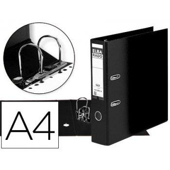 Archivador de palanca elba carton compacto con rado din a4 lomo de 80 mm negro