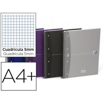 Cuaderno espiral oxford ebook 5 essentials tapa extradura din a4+ 140 hojas 90 g cuadricula 5 mm colores