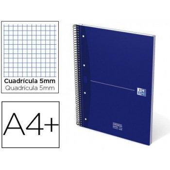 Cuaderno espiral oxford ebook 1 essentials tapa extradura din a4+ 80 hojas 90 g cuadricula 5 mm azul