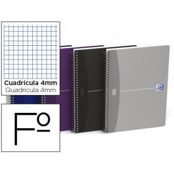 Cuaderno espiral oxford essentials tapa blanda folio 80 hojas 90 g cuadricula 4 mm colores surtidos