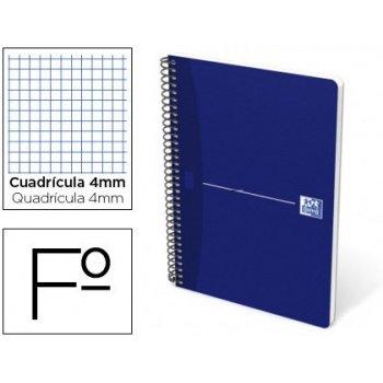 Cuaderno espiral oxford essentials tapa blanda folio 80 hojas 90 g cuadricula 4 mm azul
