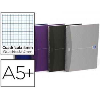 Cuaderno espiral oxford essentials tapa blanda cuarto 80 hojas 90 g cuadricula 4 mm colores surtidos