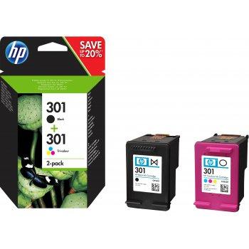 Cartucho de Tinta N9J72AE | HP 301 Original CMYK Pack 2