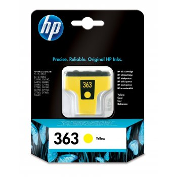 Cartucho de Tinta C8773EE | HP 363 Original Amarillo