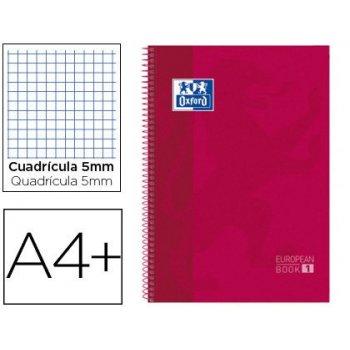 Cuaderno espiral oxford ebook 1 school classic din a4+ 80 hojas cuadro 5 mm blanco