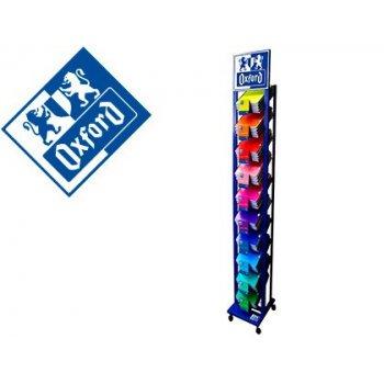 Expositor oxford de suelo con ruedas metalico columna color azul 10 posiciones 250 unidades surtidas