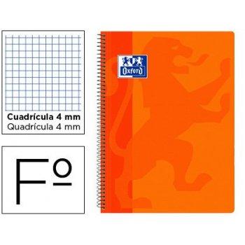 Cuaderno espiral oxford school classic tapa polipropileno folio 80 hojas cuadro 4 mm con margen