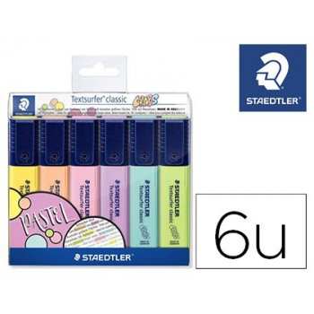 Rotulador textsurfer classic 364 pastel & vintage bolsa de 6 unidades colores surtidos