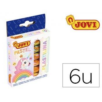 Plastilina jovi 90 estuche 6 unidades colores pastel surtidos 15 g
