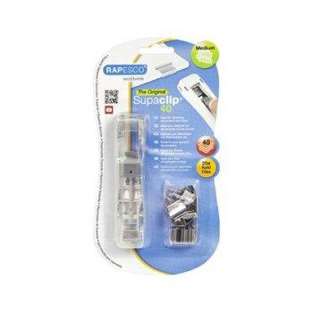 Dispensador supaclip rapesco supaclip 40 hojas capacidad con 25 clips emojis amarillo color transparente
