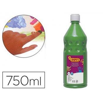 Pintura a dedos jovi 750 ml verde