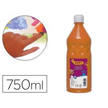 Pintura a dedos jovi 750 ml naranja