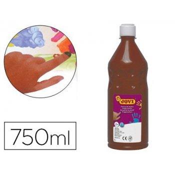 Pintura a dedos jovi 750 ml marron