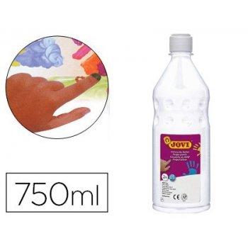 Pintura a dedos jovi 750 ml blanco