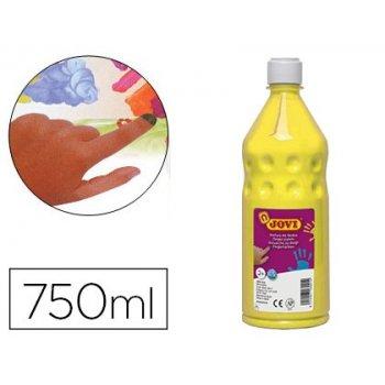 Pintura a dedos jovi 750 ml amarillo