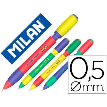 Portaminas milan sway mix 0,5 mm con goma colores surtidos