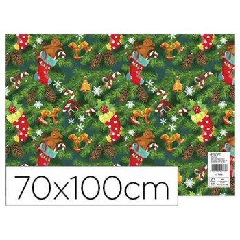 Papel fantasia ancor navidad 70 x 100 cm 80 gr modelo 14