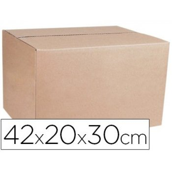 Caja de embalar marron q-connect doble canal 420x200x300 mm