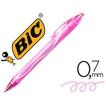 Boligrafo bic gelocity quick dry retractil tinta gel rosa punta de 0,7 mm