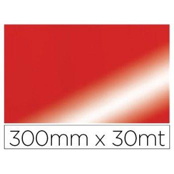 Papel fantasia colibri simple metalizado rojo bobina 300 mm x 30 mt
