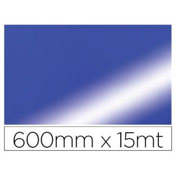 Papel fantasia colibri doble metalizado azul bobina 600 mm x 15 mt
