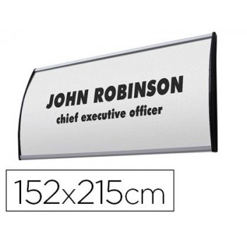 Identificador mural jansen display curvo din a5 perfil alumino 152x215 mm