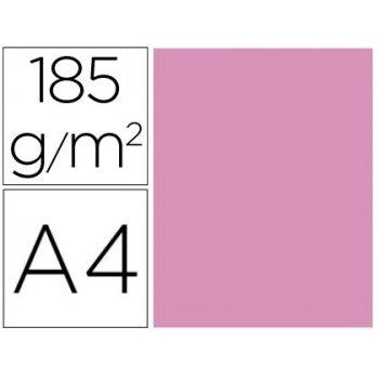 Cartulina guarro din a4 rosa chicle 185 gr paquete de 50 h