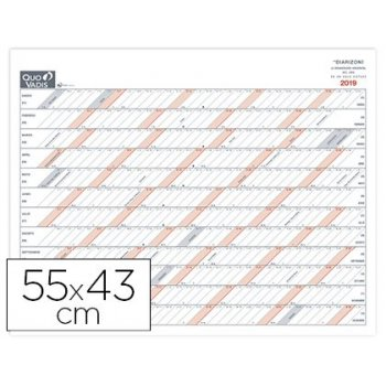 Calendario quo vadis diarizon sp 55x43 cm año vista rayado horizontal