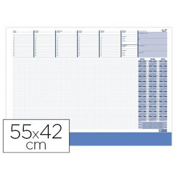Calendario vade quo vadis escribania su 8200 sp 55x42 cm vista semanal perpetua