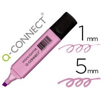 Rotulador q-connect fluorescente pastel violeta punta biselada