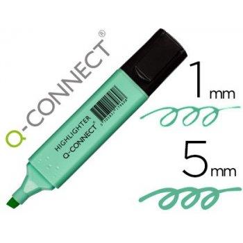 Rotulador q-connect fluorescente pastel azul punta biselada